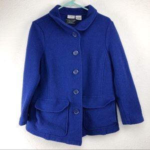 LL Bean Bellandi Italy Made Wool Blue Coat Jacket